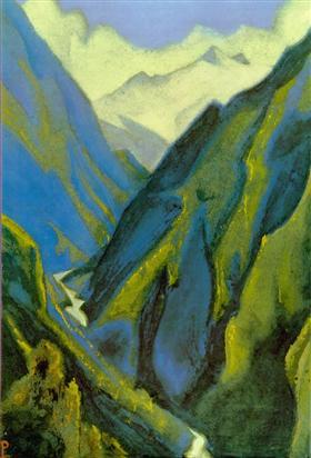 Ganges Cold ravine Nicholas Roerich