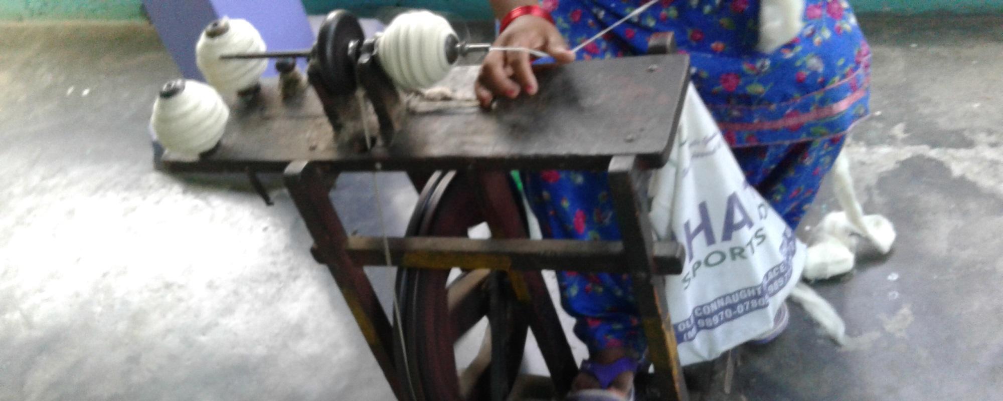 Spinning of cotton and wool – AZIMVTH Ashram