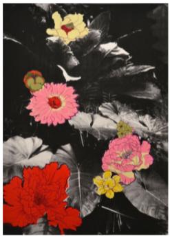 Hanakotoba, 2015. Silkscreen print, 22 x 30 in