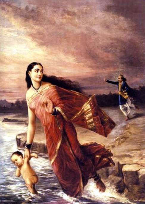 Raja_Ravi_Varma,_Ganga_and_Shantanu_(1890)