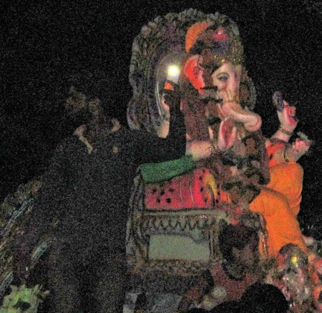 Ganesha Arriving on a Chariot of Horses 2