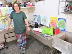 Barbara Silverman at AZIMVTH Ashram Haridwar India