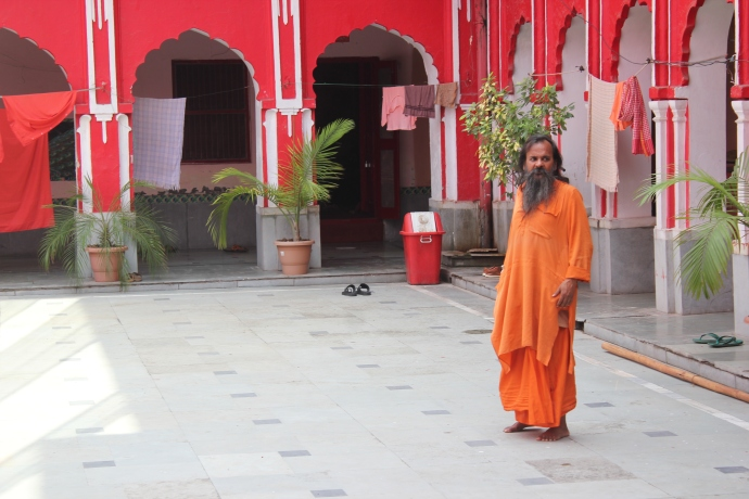 Sadhu in his Akhara - a hermitage of the ascetics.
