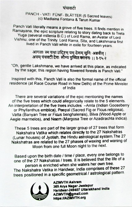 panch vati - description 1