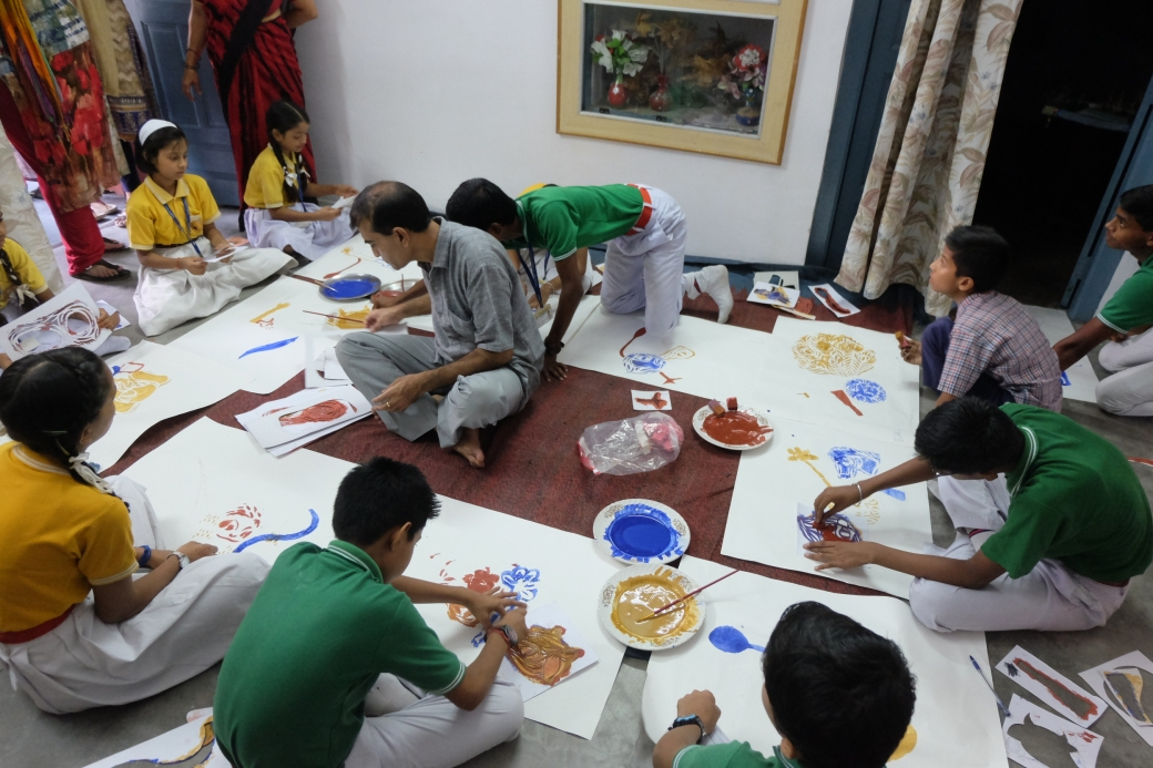 NP School Children Participating With Workshop