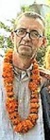 Jean-Yves at Haridwar - walking