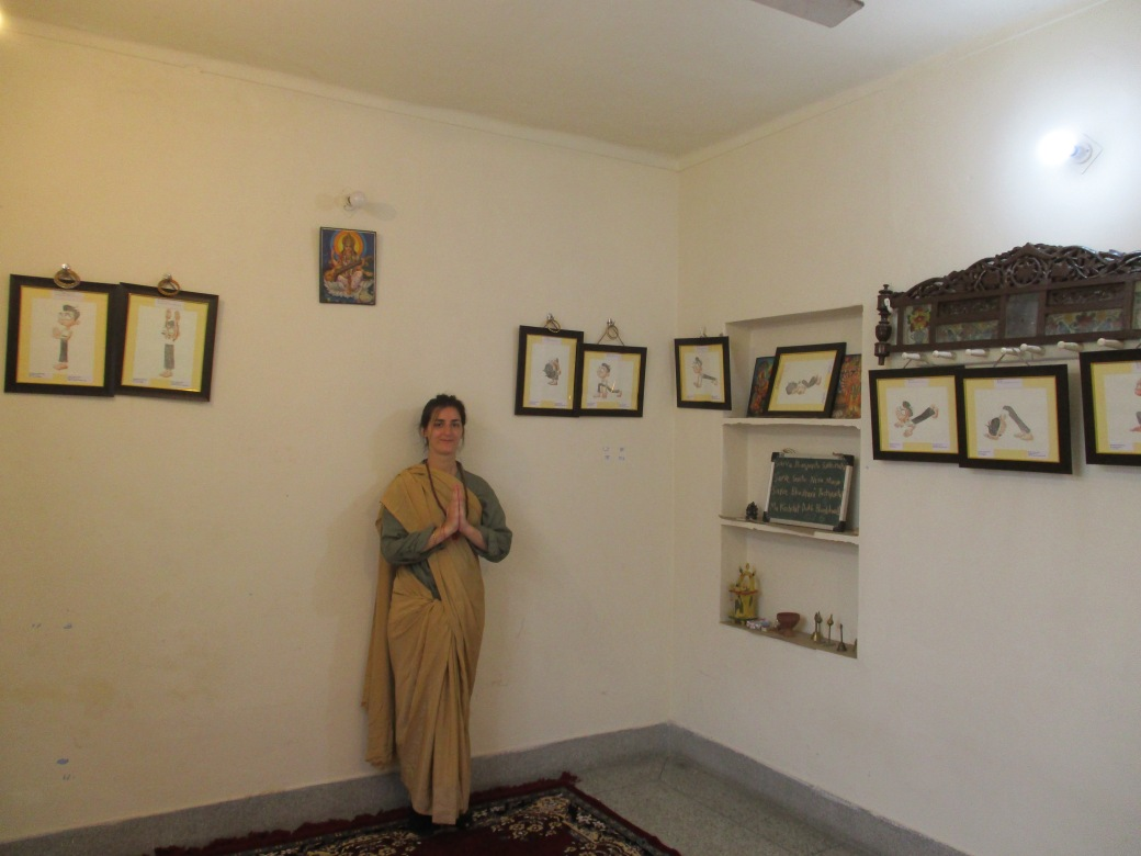 Studio 1 Sarah Gilbert French Painter at AZIMVTH Ashram Artist Residency Haridwar India