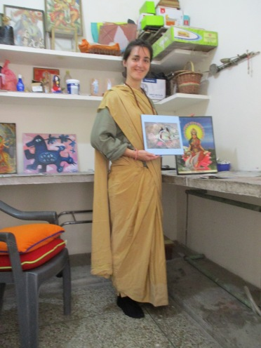 Studio 2 Oil Painting Sarah Gilbert France at AZIMVTH Ashram Art Residency in Haridwar India