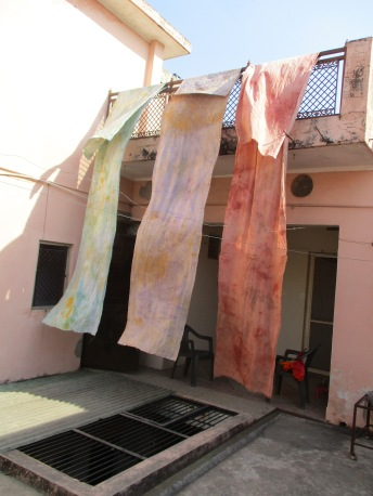 Studio 4 Haute Couture Fashion Designing Fabrics Colouring at AZIMVTH Ashram Art Residency in Haridwar India