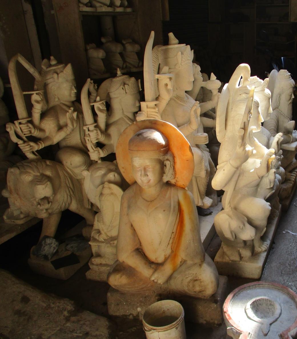 Divinity in stones - walk - behind Tehri House