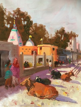 Jennifer Stottle Taylor - animals - cows - 4 - usual-day-in-hardwar-india