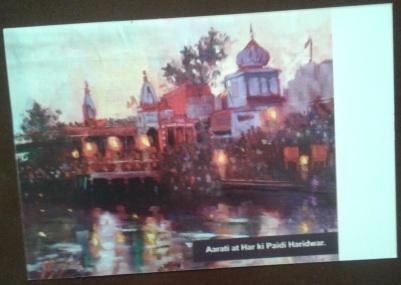 4 Aarati at Har ki Paidi Haridwar - Card - front Kumbh AZIMVTH Ashram