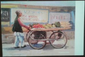 6 Vegetable Seller - Card - front Kumbh AZIMVTH Ashram